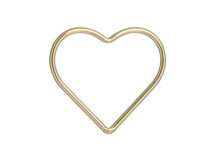 Gold-Filled 14K/20 17.5mm Closed Heart Jump Ring