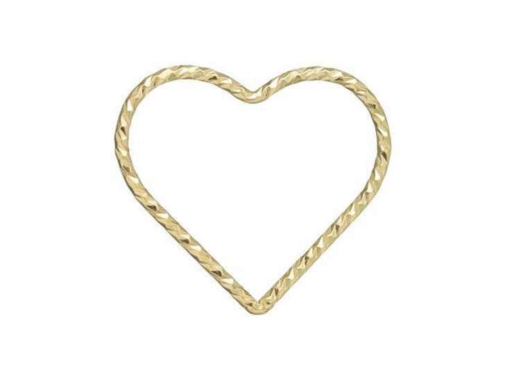 Gold-Filled 14K/20 17.5mm Closed Sparkle Heart Jump Ring