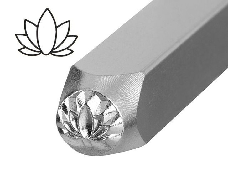ImpressArt 6mm Lotus Design Metal Stamp