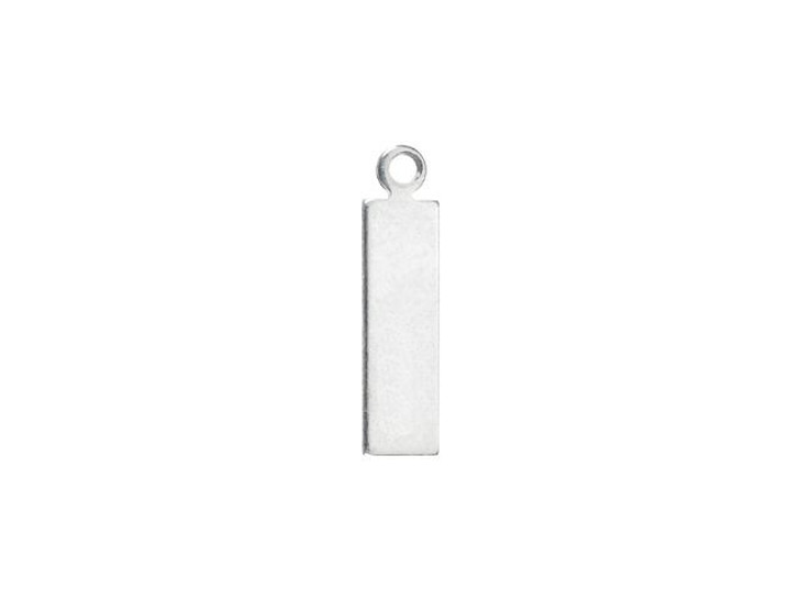 ImpressArt Rectangle Tag Charm, Silver Stamping Blank