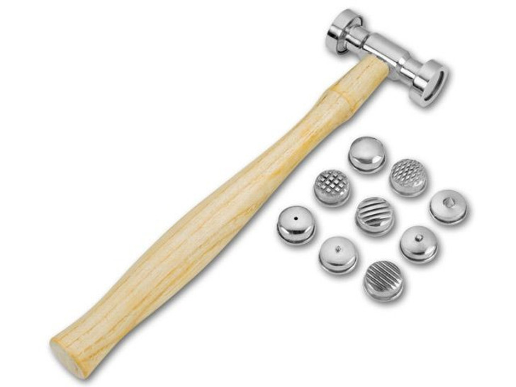 Interchangeable Texturing Hammer with 9 Texture Faces