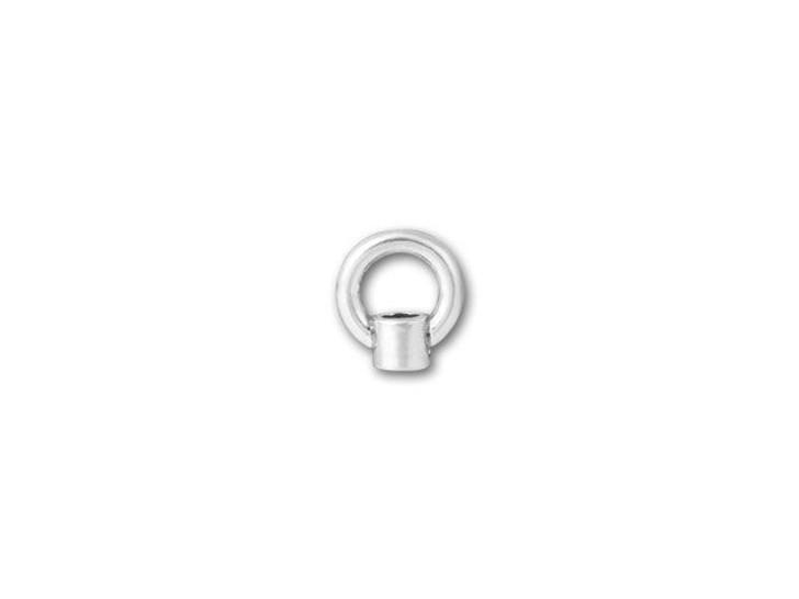 JBB 1.5mm Antique Sterling Silver End Cap with Loop