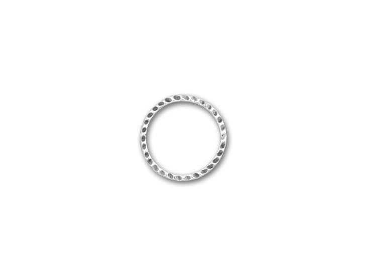 JBB 16mm Antique Sterling Silver Dimpled Circular Link