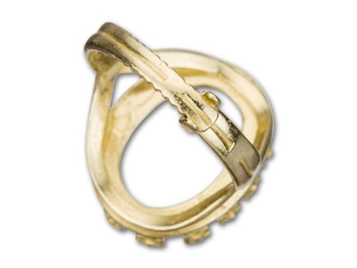 JBB 18x13mm Brass Oval Crown Bezel Locking Ring