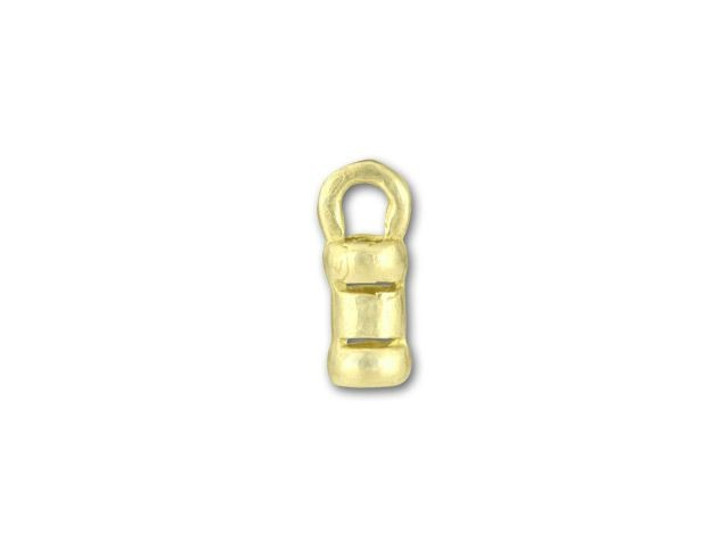 JBB 2mm Brass Crimp End Cap with Loop