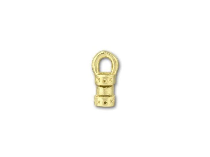 JBB 2mm Brass Fancy Crimp End Cap with Loop