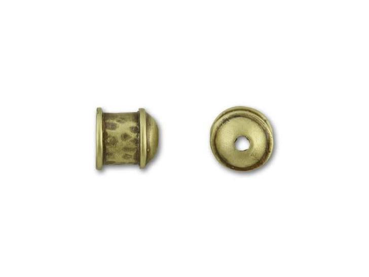 JBB 6mm Antique Brass Hammered End Cap