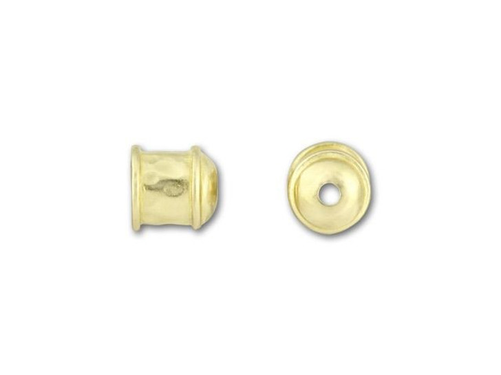 JBB 6mm Brass Hammered End Cap