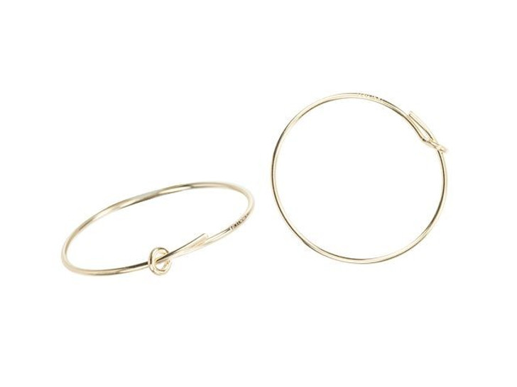 Gold-Filled 14K/20 20mm Wire Beading Hoop (Pair)