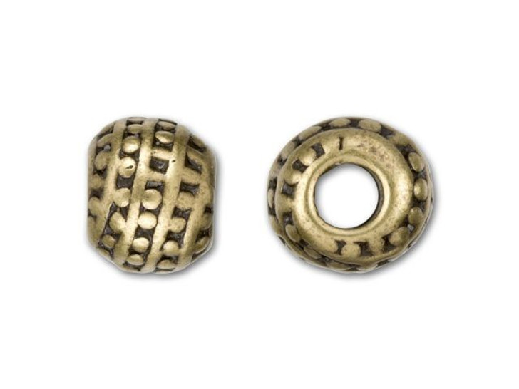 JBB Antique Brass-Plated Pewter Beaded Channel Bead