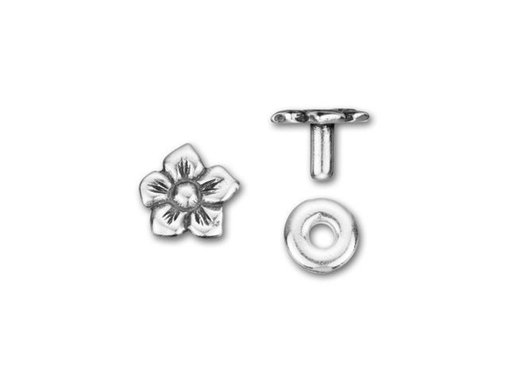 JBB Antique Silver-Plated Pewter Daisy Rivet Set
