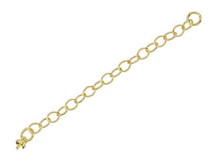 Gold-Filled 14K/20 2-Inch Cable Chain Extender with 3mm Pearl Cup