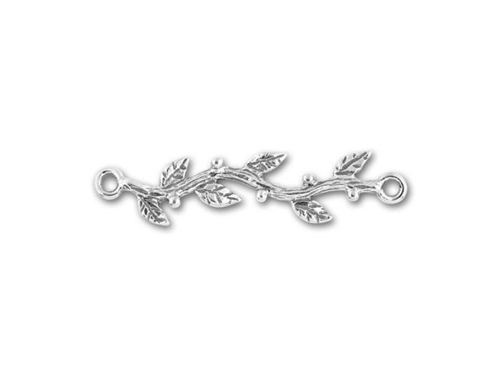 JBB Antique Sterling Silver Branch with Leaves Link