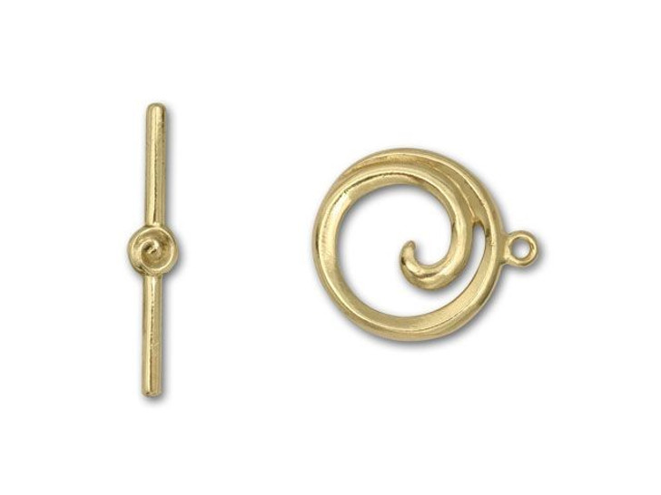 JBB Brass Spiral Toggle Clasp