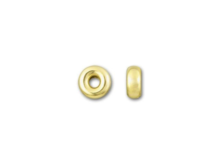 Gold-Filled 14K/20 3.2mm Bright Roundel Bead