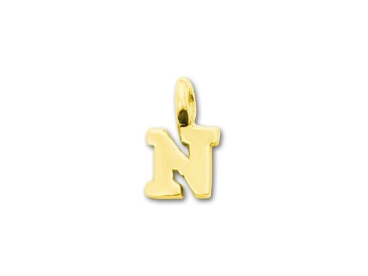 JBB Gold Vermeil Alphabet Charms - N