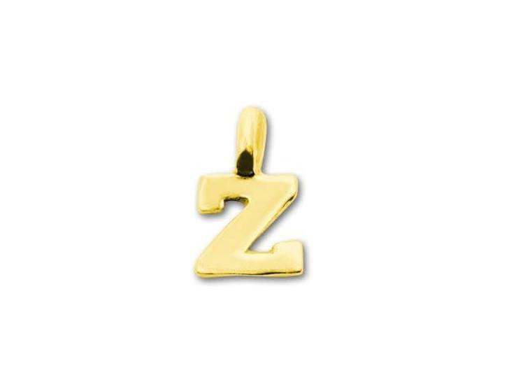 JBB Gold Vermeil Alphabet Charms - Z