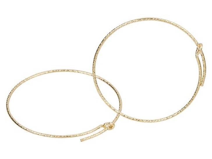 Gold-Filled 14K/20 30mm Sparkle Wire Beading Hoop (Pair)