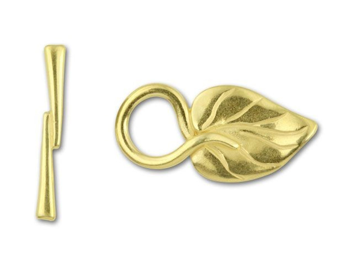JBB Gold-Plated Pewter Ivy Leaf Toggle Clasp