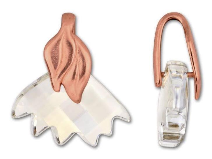 JBB Gold-Plated Pewter Leaf Pinch Bail