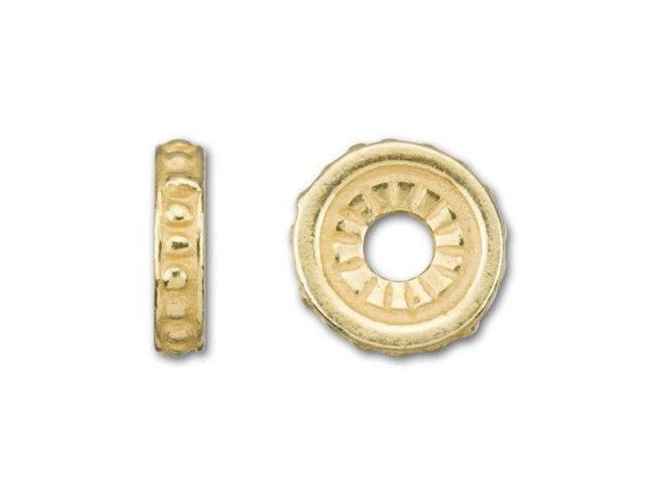 JBB Gold-Plated Pewter Spacer Bead