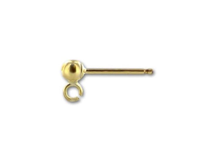 Gold-Filled 14K/20 3mm Ball Post Earring (Pair)