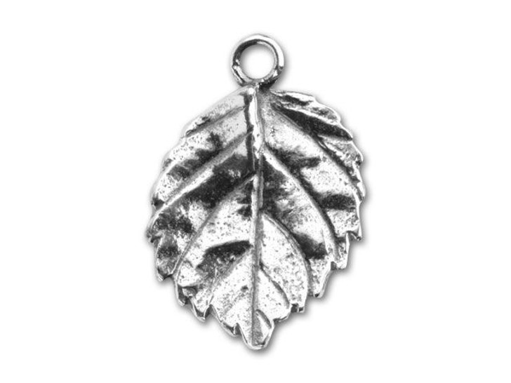 JBB Sterling 19.5x13.5mm Silver Leaf Charm