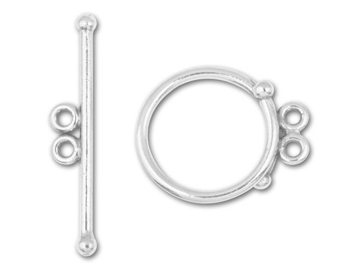 JBB Sterling 2-Strand Toggle Clasp