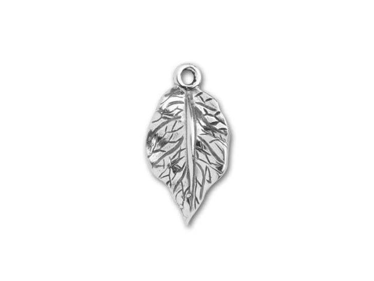JBB Sterling Silver 20x10mm Leaf Pendant