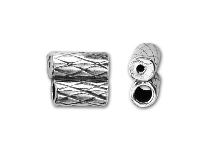 JBB Sterling Silver 2mm Double Tube Slider End Cap