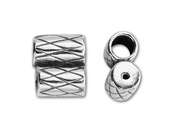 JBB Sterling Silver 3mm Double Tube Slider End Cap