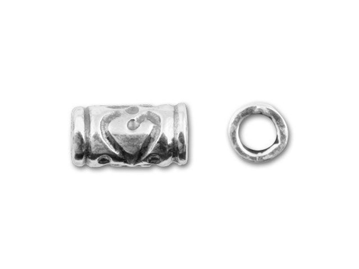 JBB Sterling Silver 8.5mm Patterned Tube
