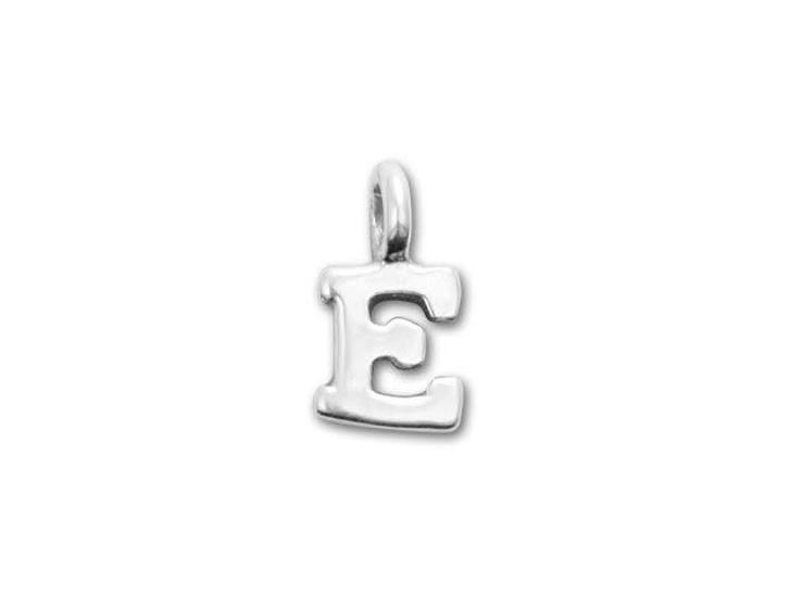 JBB Sterling Silver Alphabet Charms - E