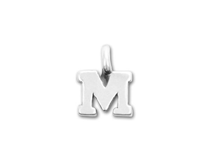 JBB Sterling Silver Alphabet Charms - M