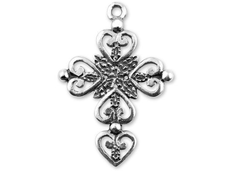 JBB Sterling Silver Fancy Cross Charm