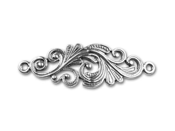 JBB Sterling Silver Floral Link