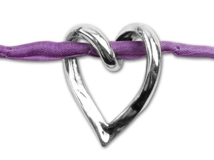 JBB Sterling Silver Heart Slider