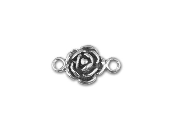 JBB Sterling Silver Rose Link