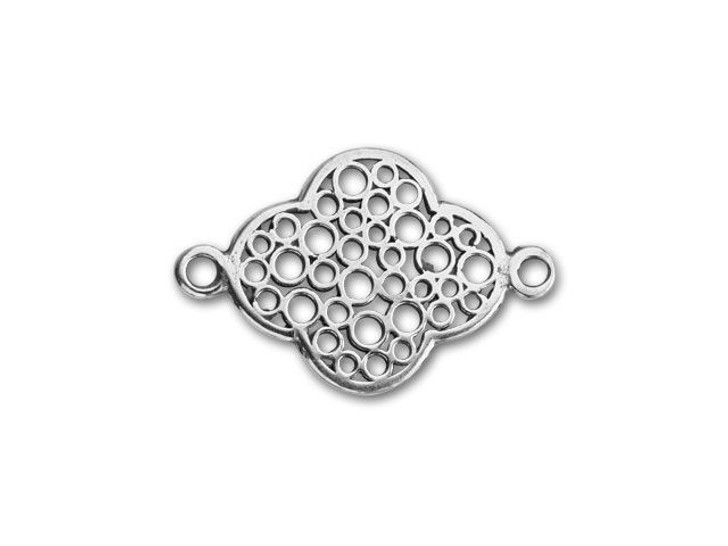 JBB Sterling Silver Small Clover Shape Link with Holes