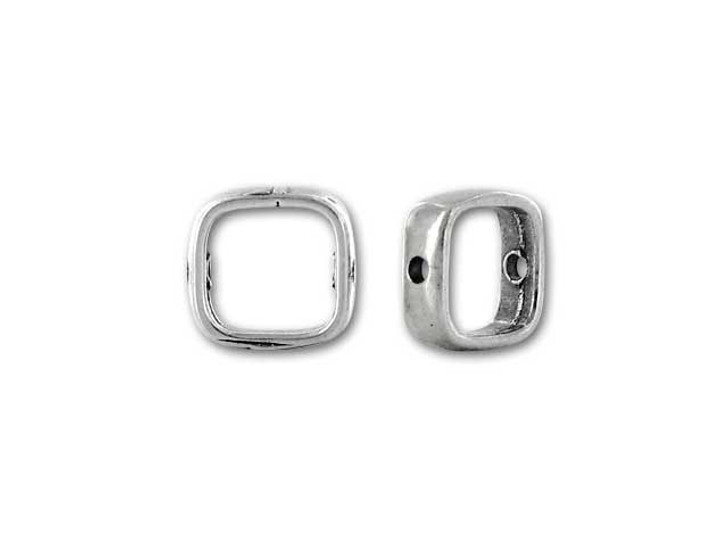 JBB Sterling Silver Small Simple Square Bead Frame