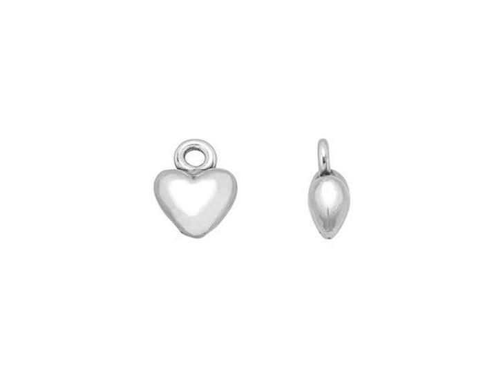 JBB Sterling Silver Tiny Heart Charm