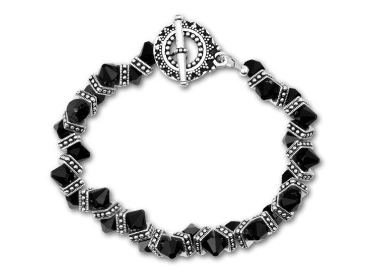 Jet Crystal Zipper Bracelet Kit