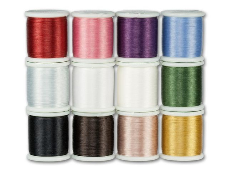 KO Nylon Japanese Beading Thread Assortment, Dark Colors (Twelve 55-Yard Spools)