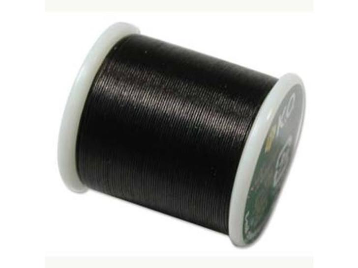 KO Nylon Japanese Beading Thread, Black (55-Yard Spool)