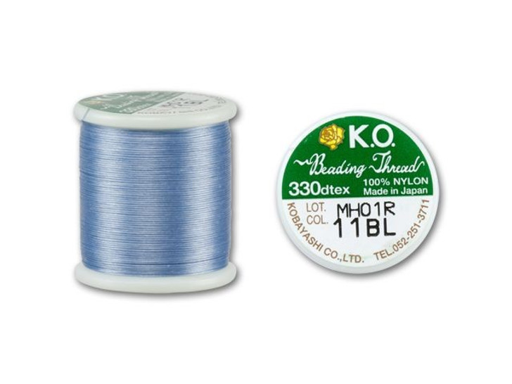 KO Nylon Japanese Beading Thread, Light Blue (55-Yard Spool)