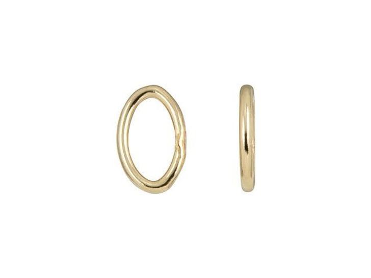 Gold-Filled 14K/20 5mm 22 gauge Oval Closed Jump Ring