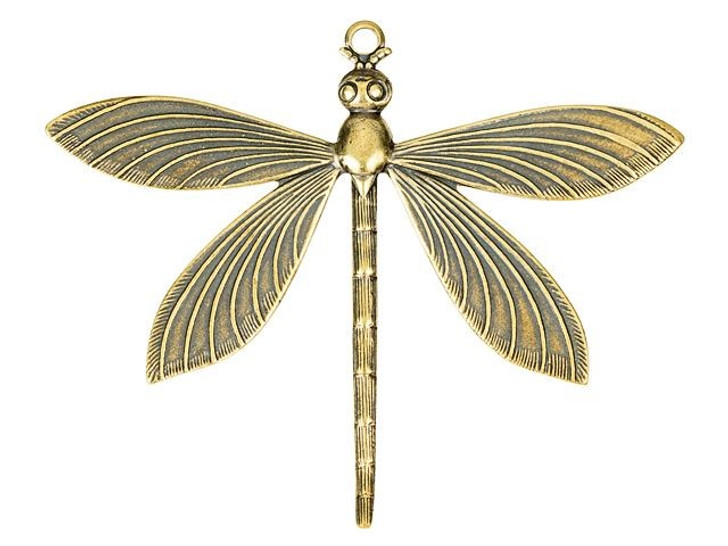 Large Brass Dragonfly Pendant