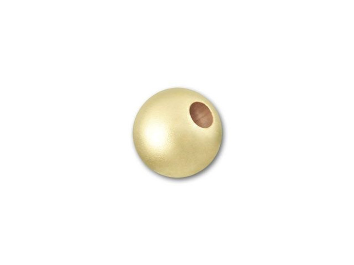 Gold-Filled 14K/20 5mm Round Matte Bead