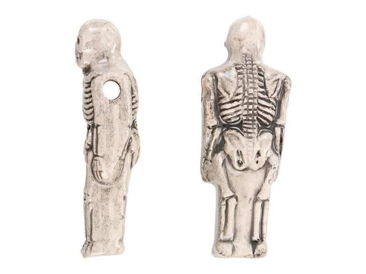 Large Skeleton Ceramic Bead