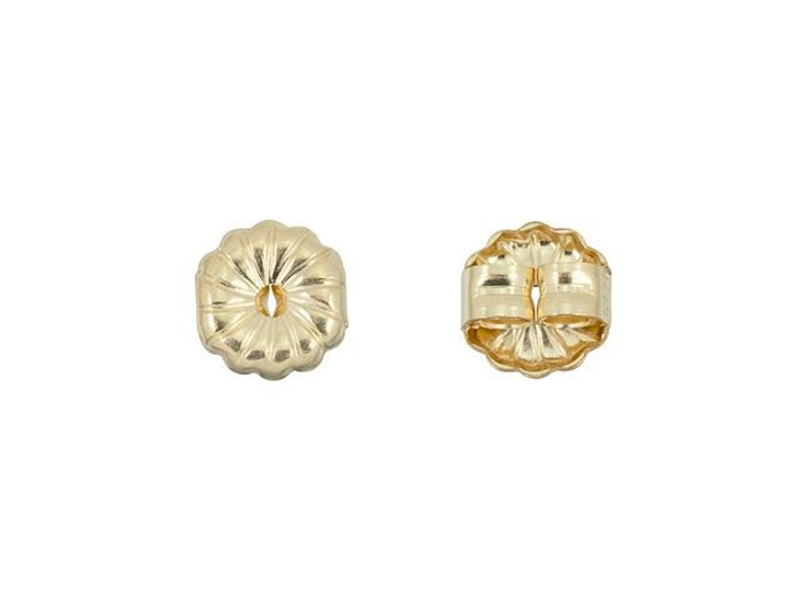 Gold-Filled 14K/20 5mm Swirl Earring Back